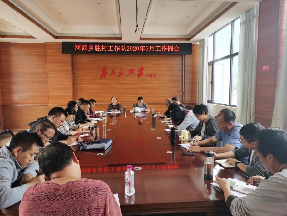 云南怒江河西乡驻村扶贫工作队召开2020年9月工作例会