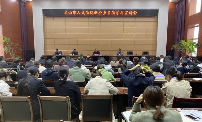 云南文山市人民法院开展新修订《中华人民共和国公务员法》学习活动